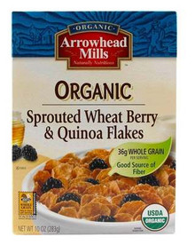 Sprouted Wheat Berry/Quinoa Flakes, 12 of 10 OZ, Arrowhead Mills