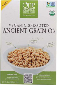 Ancient Grain O's, 6 of 8 OZ, One Degree Organic Foods