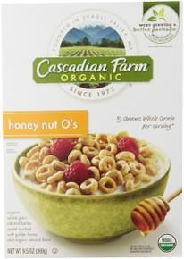 Honey Nut O's, 12 of 9.5 OZ, Cascadian Farm