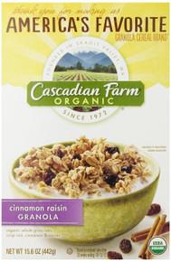Cinnamon Raisin Granola, 6 of 15.6 OZ, Cascadian Farm