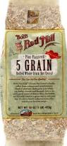 5 Grain, Rolled, Hot, 4 of 16 OZ, Bob'S Red Mill
