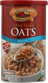 Quick Oats, 6 of 18 OZ, Country Choice Organic