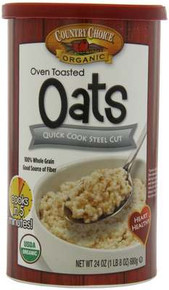 Quick Oats, Steel Cut, 6 of 24 OZ, Country Choice Organic