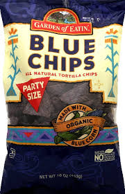Blue, Salted, Party Size, 12 of 16 OZ , Garden Of Eatin'