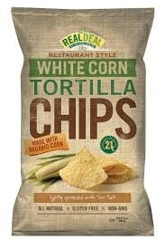 White Corn Tortilla, 9 of 24 OZ, Real Deal All Natural Snacks
