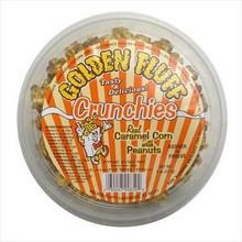 Caramel Popcorn w/Peanuts, 12 of 8 OZ, Golden Fluff