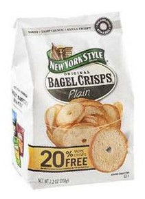 Bagel Crisp, Plain, 12 of 7.2 OZ, New York Style