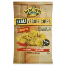 Real Veggie Chip, Sriracha, 12 of 6 OZ, Real Deal All Natural Snacks