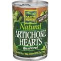 Artichoke Hearts, Quartered, 6 of 14 OZ, Native Forest