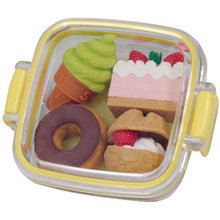 Dessert Bento Box Erasers Yellow  From Iwako