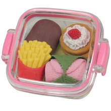 Dessert Bento Box Erasers Pink  From Iwako