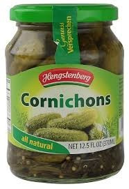 Cornichons In Jar, 12 of 12.5 OZ, Hengstenberg