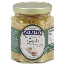 Garlic Chopped In Oil, 12 of 6 OZ, De Lallo