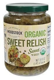 Relish, Sweet, 12 of 16 OZ, Woodstock