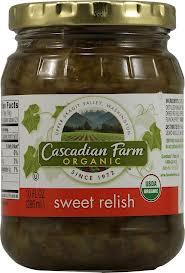 Relish, Sweet, 12 of 10 OZ, Cascadian Farm