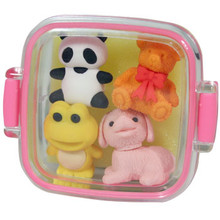 Animal Bento Box Erasers Pink  From Iwako