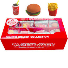 Hamburger Eraser Set 60 Pieces  From Iwako