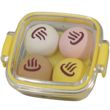 Steamed Buns Bento Box Erasers Yellow  From Iwako