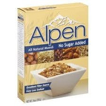 Alpen Muesli, Nat, No Sugar Added, 12 of 14 OZ, Weetabix