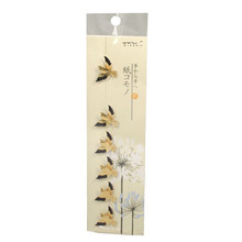 Gold Foil Swallow Stickers  From AFG
