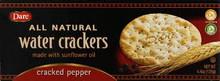Water Cracker, Cracked Pepper, 12 of 4.4 OZ, Dare