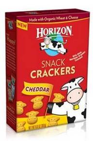 Cracker Snack, Cheddar, 12 of 6.6 OZ, Horizon