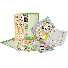 Panda School Letter and Sticker Set  From San-X