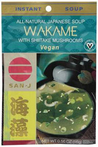 Broth, Wakame, W/Shitake Mushroom, 2 of 18 of 0.56 OZ, San-J