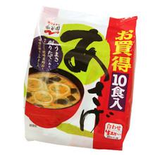 Nama Misoshiru Asage Instant Miso Soup 10 Pack  From Nagatanien