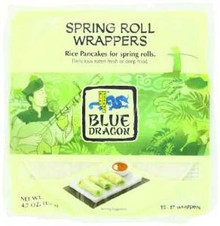 Spring Roll Wrappers, 12 of 4.7 OZ, Blue Dragon