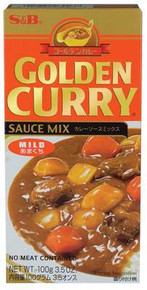 Curry Mix, Mild, 12 of 3.5 OZ, S&B Golden