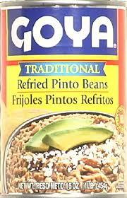 Refried Beans, 24 of 16 OZ, Goya