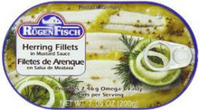 Herring, Mustard Sauce, 16 of 7.05OZ, Rugenfisch
