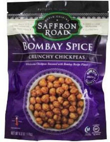 Bombay Spice Crunchy Chickpeas, 8 of 6 OZ, Saffron Road