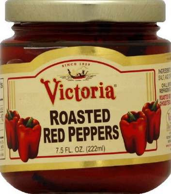Roasted Red Peppers, 6 of 7.5 OZ, Victoria