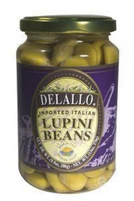 Beans, Lupini, Imported, 12 of 13 OZ, De Lallo