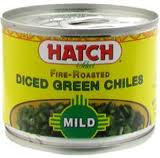 Green Chilies, Mild, Diced, 24 of 4 OZ, Hatch