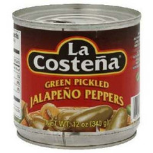 Jalapeno, Whole, 12 of 12 OZ, La Costena