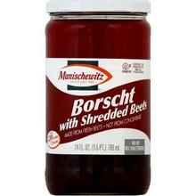 Borscht, W/Beets , 12 of 24 OZ, Manischewitz