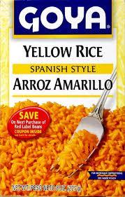 Rice Mix, Yellow, 24 of 8 OZ, Goya
