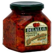 Pepper, Roasted Bruschetta, 6 of 10 OZ, De Lallo