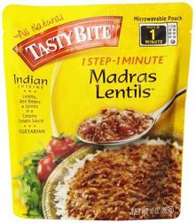 Lentils, Madras, 6 of 10 OZ, Tasty Bite