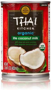 Coconut Milk, Lite, 12 of 13.66 OZ, Thai Kitchen