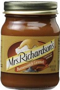 Topping, Butterscotch Caramel, 12 of 17 OZ, Mrs Richardsons