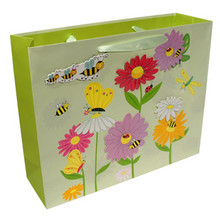Colored Flowers with Bees Gift Bag  From AFG