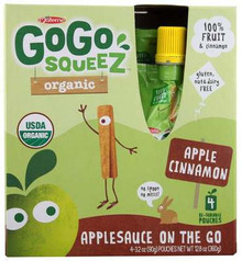 Apple Cinnamon, 12 of 4 of 3.2 OZ, Gogo Squeez