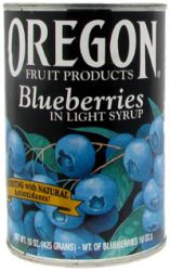 Blueberries in Light Syrup, 8 of 15 OZ, Oregon Fruit