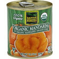 Mandarin Oranges, 6 of 10.75 OZ, Native Forest