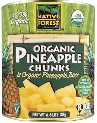 Pineapple Chunks, 6 of 96 OZ, Native Forest