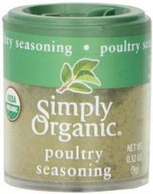 Poultry Seasoning Blend, Salt Free, 6 of 0.32 OZ, Simply Organic